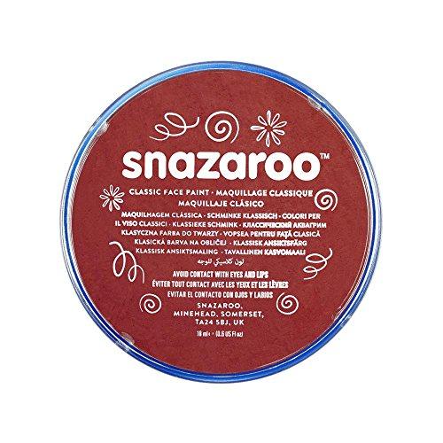 Snazaroo 1118866 Kinderschminke, hautfreundliche hypoallergene Gesichtschminke auf Wasserbasis, wasservermalbar, parabenfrei, burgunder, 18 ml Topf