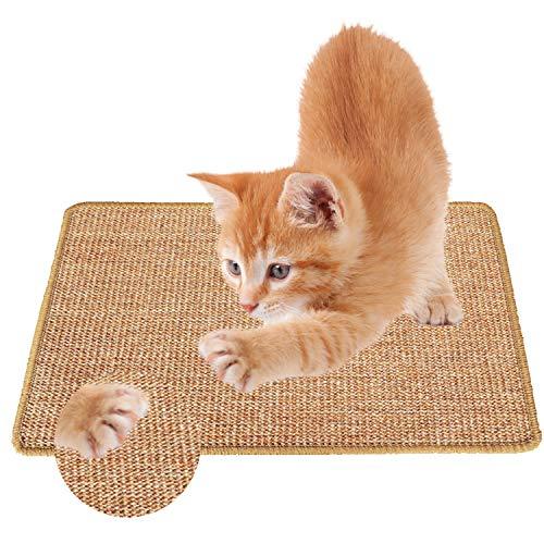 J TOHLO Tapete Scratcher para Gato 60×40 cm Almohadilla de Sisal Natural para Gato Garras de Afilar el Gato para Garras de molienda de Gato y Muebles de Alfombra de protección