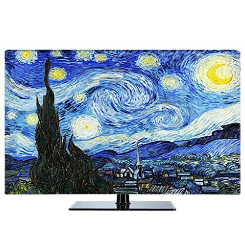 HBLZG TV - Estuche Protector Antipolvo Compatible con PC, computadora de Escritorio y Pantalla de TV Cubierta Protectora Universal contra el Polvo (Color : D, Size : 49 Inch)