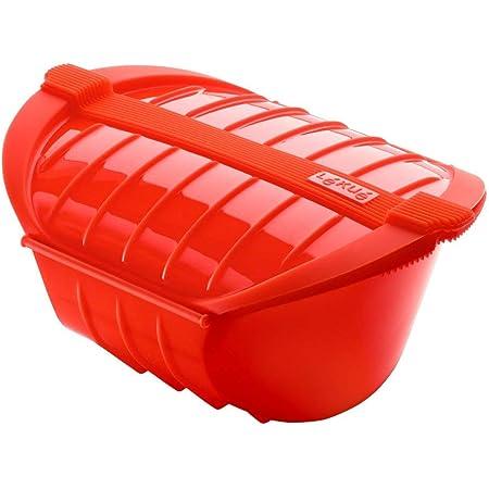 Lékué - Ogya Extra-Large Microwave Pot, 1 Litre, Red