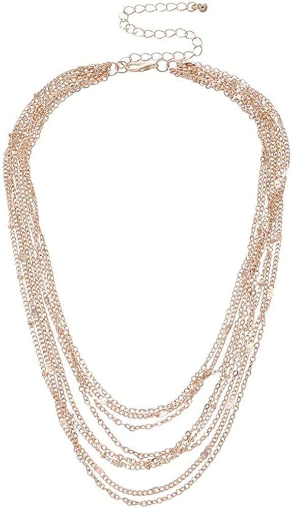 Necklace Jewelry Street Fashion Trend New Chain Layered Collar Necklace