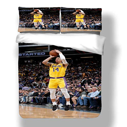 Duvet Cover Set National Basketball Player Bedding Association Playoffs Finals Allstar Super Star Double Team Scoring Table Quilt Coverlet with 2 Pillow Shams Eastern Western Conference Semifinals