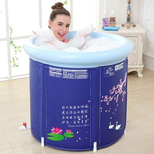 LJF bain gonflable Baignoire pliante à l'eau épaissie Baignoire gonflable pour adulte ( taille : 65*70cm )