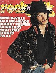 ROCK & FOLK 182 MINK DEVILLE TALKING HEADS ROBERT PALMER SKINHEADS MEAT LOAF STONES EW & F
