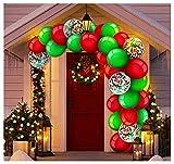 ZHMIAO Guirnalda de globos de Navidad con 129 juegos de arco, globos de látex para bodas, cumpleaños, fiestas de gallina, baby showers, aniversarios o decoraciones de Navidad