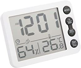 TS-9606 Termómetro Higrómetro Medidor de humedad de temperatura interior multifuncional HD Pantalla grande Reloj despertador con cuenta regresiva, -9.9 ℃ ~ 70 ℃