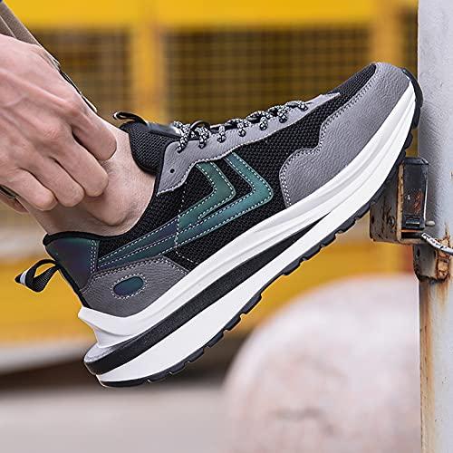 Zapatos de Trabajo Zapatos de Trabajo Ligeros de Seguridad para Hombres Toe Toe Toe TRIPANTENOS Mujeres Aire CHUJIÓN PUNTURA A Prueba de perforación Zapatos industriales (Color : 36)