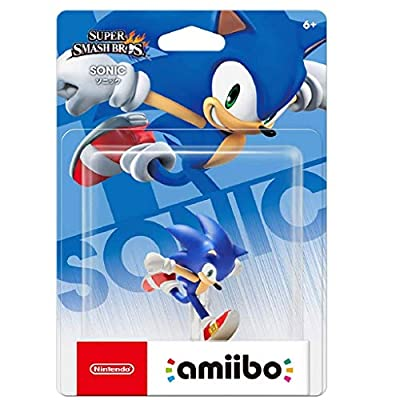 LRW Super Smash Bros. Amiibo: Sonic Figurine! Super Smash Bros. Series Action Figure Game Masterpiece Collectible Figure from Japan Import (Wii U/ 3DS/ Switch) anmie