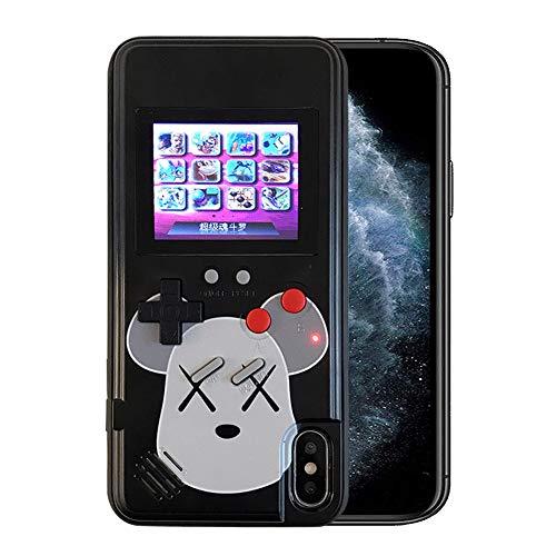 Kesv Custodia Gameboy, Custodia in Silicone Stile Gameboy retrò con 36 Piccoli Giochi, Schermo A Colori, Cover Gameboy per iPhone X iPhone XS