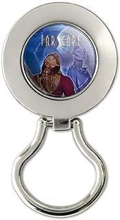 Farscape Crew Zhaan and Ka D'Argo Aliens Magnetic Metal Eyeglass ID Badge Holder
