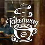 Wall4Stickers® Taza de café para llevar Tienda de vinos Vinilo pegatina Letrero de ventana Decoración de signo de arte de pared