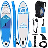 Fixget, Stand Up Paddling Sup Board 10 Foot 33 Inches 330 Pound Load Capacity Adjustable Inflatable 6 Inches Thick Surfboard Set, Unisex, Azul