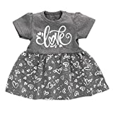 Koala Babykleid als Mädchen-Babykleidung in Grau & Weiß im Motiv Love für Neugeborene & Kleinkinder/Baby-Kleid als Erstausstattung für Mädchen/Größe 0-3 Monate (62)