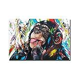 Nativeemie Graffiti Art Pop Süße Affen Leinwand Gemälde