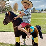 PonyCycle Officiel Jouet en Peluche de la Prime K Série Marche Animal Cheval Brun foncé pour 3-5 Ans Petite Taille K35