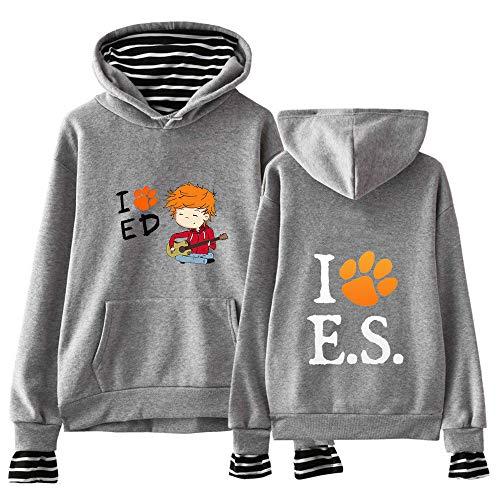 Ed Sheeran Pullover Unisex Sudaderas Falso de Dos Piezas suéter otoño e Invierno Sudadera con Capucha Tops Impreso Unisex (Color : Grey16, Size : S)