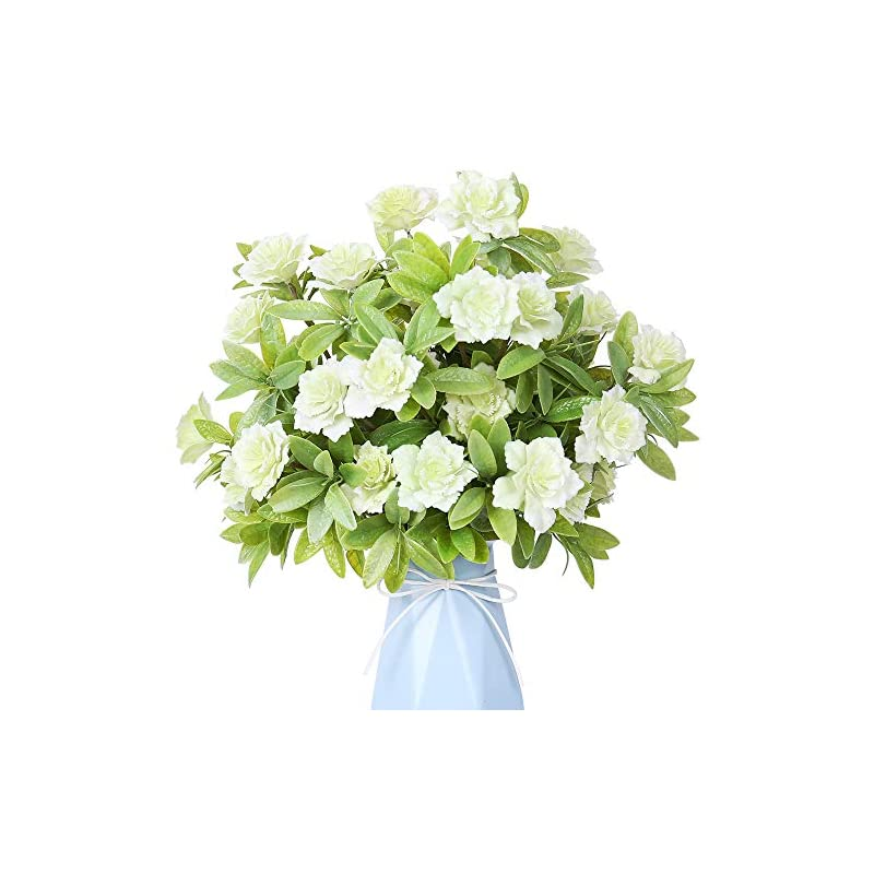 silk flower arrangements yiliyajia artificial flowers fake plastic gardenia faux floral bouquets greenery plants bushes outdoor uv resistant for home office table outside decoration