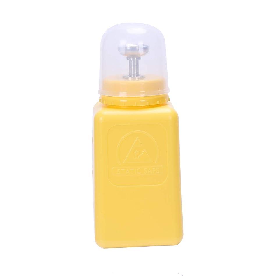 明らかにする泥沼かかわらずTOOGOO 2個入り帯電防止防止工業用アルコールボトルポンププレス型スプラッシュ溶剤ボトル(イエロー)