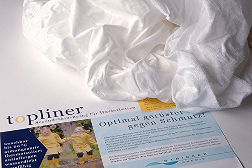 Stricker Chemie Wasserbetten Topliner - Schutzbezug für Wasserkerne, Topliner 160 x 220 cm