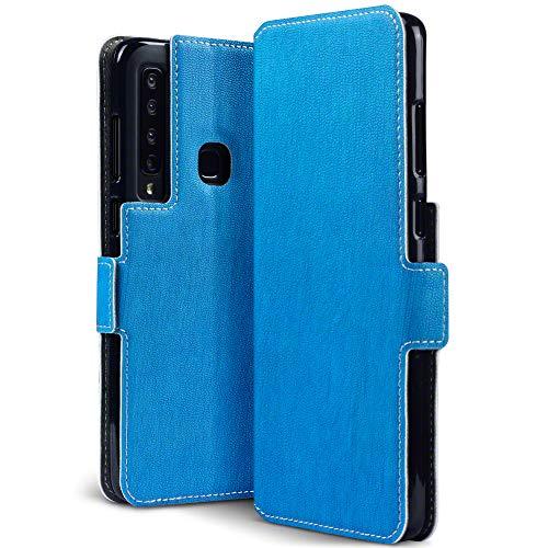 TERRAPIN, Kompatibel mit Samsung Galaxy A9 2018 Hülle, Premium Leder Flip Handyhülle Samsung Galaxy A9 2018 Tasche Schutzhülle - Hellblau