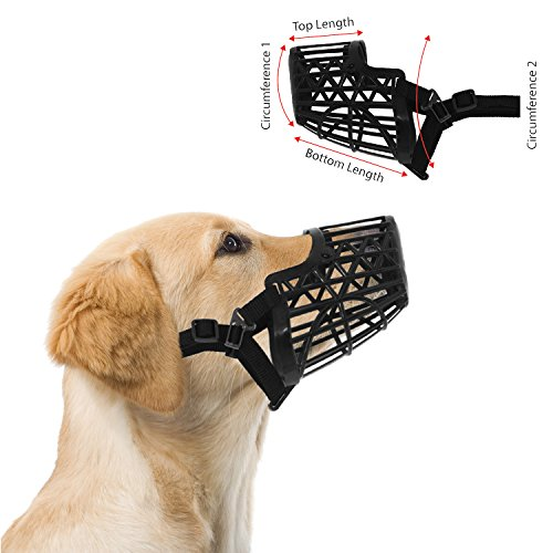 Downtown Pet Supply Basket Cage Dog Muzzles, Adjustable for Small, Medium...
