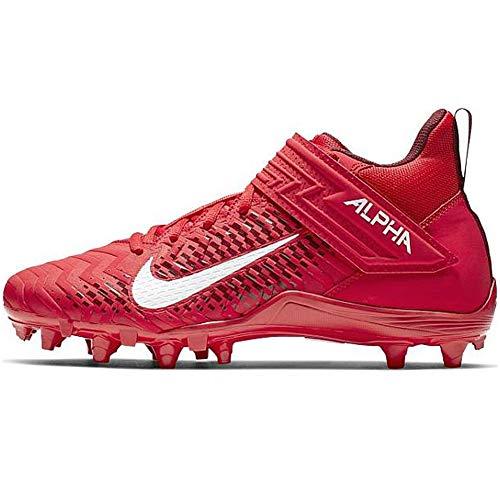 Nike Alpha Menace Varsity 2 - Tacos de fútbol para hombre, University Rojo/Blanco-Team Rojo, 11.5 US