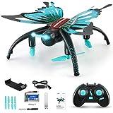 SMUOO Butterfly RC Mini Drone avec Mode Caméra sans Tête Altitude Hold HD,360Flip Quadcopter Aircraft pour Garçons, Filles, Enfants, Débutant, Jouets pour Enfants, Cadeau d'anniversaire De Noël