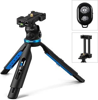卓上三脚 ミニ三脚 カメラとスマホ両用 K&F Concept 5段階変更可能 小型 軽量 コンパクト Gopro設置可能 Bluetoothリモコン付き ボール雲台付属 耐荷重3kg KF-16DT「メーカー直営店」