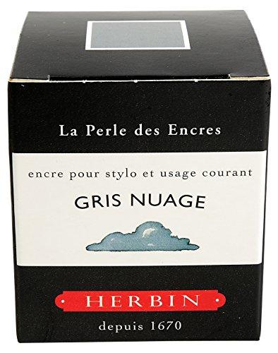 J.Herbin 13008T Tinte für Füller, 30 ml, wolkengrau