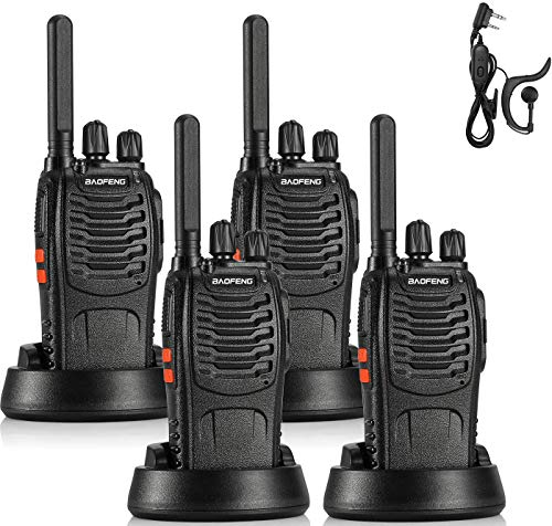 BAOFENG BF-88ST FRS Radio Two Way Radio Long Range, Upgrade Version of BF-888S, License-Free Walkie Talkie VOX USB Charging LED Flashlight, with Earpiece, 4 PCS by Radioddity. Compare B08YQV1LJ7 related items.