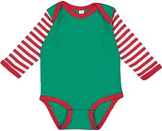 Rabbit Skins Infant 100% Combed Ringspun Cotton Baby Rib Lap Shoulder Long Sleeve Bodysuit