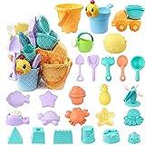 Giocattoli da Spiaggia, Bambini Set con Mesh Bag per Facilitare Pulizia e Conservazione, C...