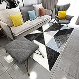 YDyun Alfombra Salon Grandes - para Comedor, Dormitorio, Pasillo y Habitación Juvenil Alfombra del Dormitorio de la Sala de Estar Simple del patrón geométrico de la Personalidad