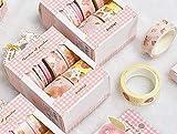 10 Rolls 2 Meters Pink Peach Washi Tape Set, Various Widths Washi Tape, Masking Tape, Planner Tape Gift Wrap, Journal DIY Tape, Stationery