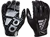 adidas Adult Adimoji 7.0 Receiver Gloves (Black/Black, Medium)
