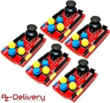 AZDelivery 5 x PS2 Joystick Shield Game Pad Keypad V2.0 für Arduino