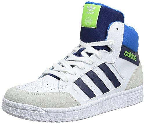 adidas, PRO Play K, Scarpe per Bambini, Unisex - Bambino, Multicolore (Ftwwht/Dk Blue/Sesogr), 37 1/3