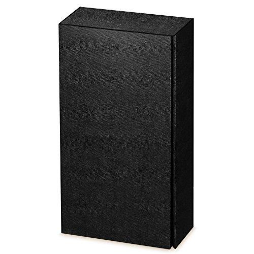 10 Stück Weinkarton, Weinverpackung, Flaschenkarton Fineline Black (schwarz) für Zwei Flaschen Wein/Sekt