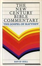 New Century Bible Commentary: Gospel of Matthew