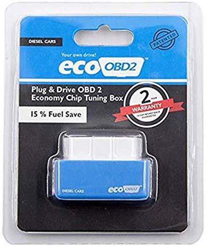 LZS Benzin & Diesel Spritsparer Economy Spritsparer Eco OBD2 Benzin Tuning Box Chip Für Auto Benzin Gas Sparen Sie weniger Kraftstoff und senken Sie (Blau)