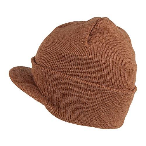 Preisvergleich Produktbild Village Hats Dorfman-Pacific Beanie Mütze mit Visier - Kupfer - One Size