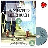 Libro de canciones de boda Band 2 – 20 melodías románticas de clásico y pop para el día más bonito de la vida – Libro de partituras con CD y colorido clip en forma de corazón – BOE7894 9783865439895