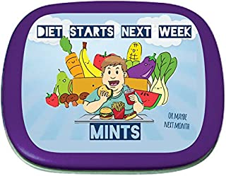 Diet Starts Next Week Mints - Stocking Stuffers for Adults, Peppermint Breath Mints, Sugar-Free