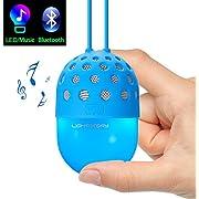 Lightstory Mini Bluetooth Speaker with Colorful LED Light, for Kids Boys Girls, Blue