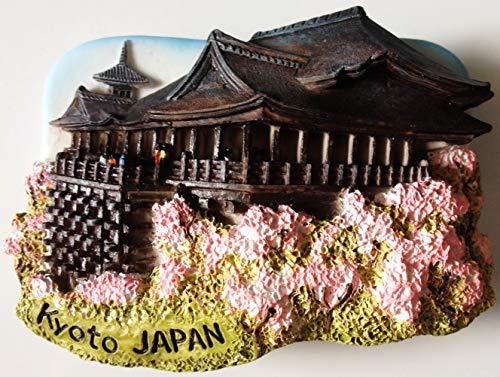 Kyoto Japón Kiyomizu-Dera agua templo resina 3d imán de nevera nevera tailandés hecho a mano craft. por Thai mcnets