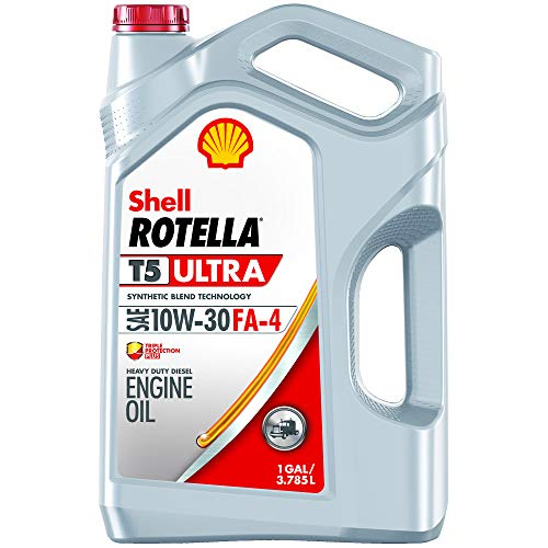 engine oils Shell Rotella T5 Ultra Synthetic Blend 10W-30 Diesel Engine Oil, FA-4 (1-Gallon, Single Pack)
