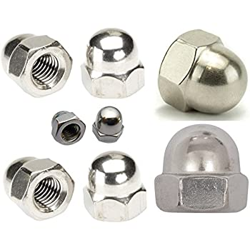 M5 BLACK STAINLESS STEEL DOME NUTS PACK OF 100  A2 Stainless Steel