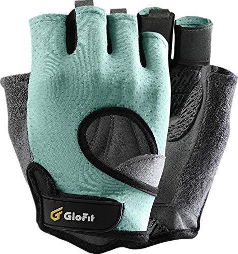Glofit Freedom Workout Gloves, Knuckle Weight Lifting Shorty Fingerless Gloves with Curved Open...