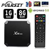 X96 Mini Streaming Media Player Android 9.0/4K TV Box con chipset de Cuatro núcleos Amlogic S905W, 64 bits WiFi, 4K HD, H.265 por puersit