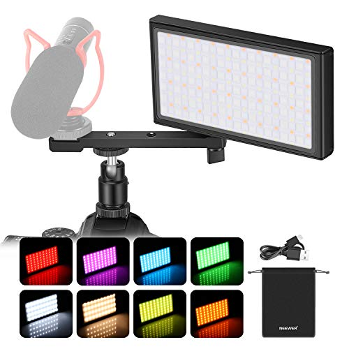 Neewer SL80-APP 10W RGB Led Video Light with APP Control, Built-in 4150mAh Rechargeable Battery, CRI95+/3200K- 8500K/Brightness 0-100/0-360 Adjustable Colors/9 Scenario/Aluminum Alloy Shell